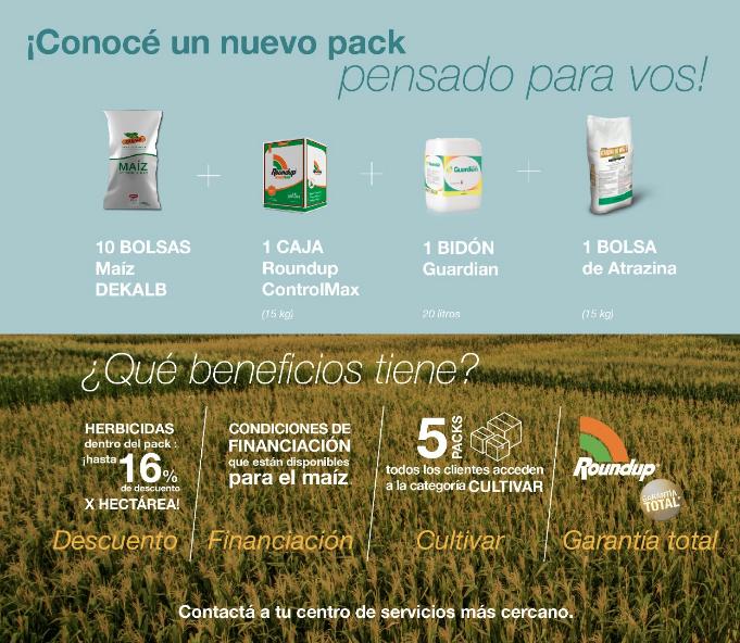 Descubrí el nuevo pack DEKALB + Herbicidas